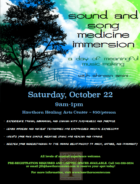 Sound and Song Medicine Immersion | Hawthorn Center